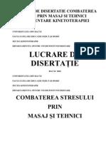 38672934 Lucrare de Disertatie Combat Ere a Stresului Prin Masaj Si Tehnici Complement Are Kinetoterapiei