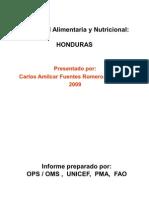 Seguridad Aliment Aria y Nutricional HONDURAS