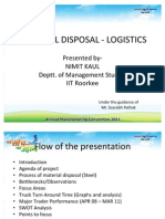 Material Disposal Management and Logistics