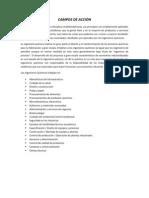 CAMPOS DE ACCIÓN de la Ingenieria quimica