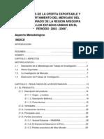 Analisis de La Oferta Exportable y Comport a Mien To Del Mercado Del Maiz Morado de La Region Arequipa Hacia Los