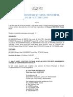 Conseil Municipal Latresne 18oct10