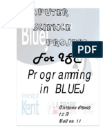 ISC Class XII Computer Science Project JAVA Programs