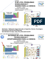 Presentacion de Calvo Sobre BATERIAS de LITIO