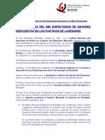IMD acuerdo Nota
