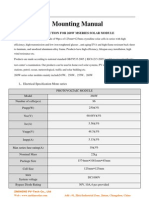 Mounting Manual for 260WP Panel