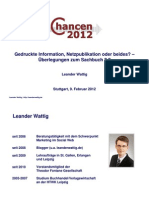Gedruckte Information, Netzpublikation oder beides? – Überlegungen zum Sachbuch 2.0