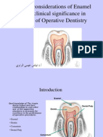 Biologic Considerations of Enamel Structure and Its Clinical Significance in Practice of Operative Dentistry