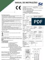 Manual de instruções megaohmímetro