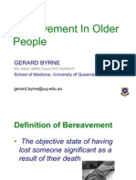 Bereavement in Older People