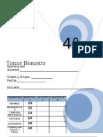 Examen Lainitas 4to Grado - Bimestre 3 (2011-2012)