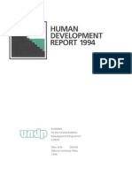 UNDP Human Development Report 1994 i