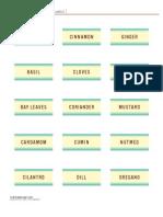 Spicejar Labels