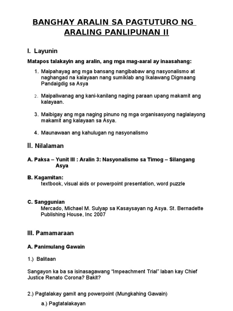 sample of detailed lesson plan in araling panlipunan essays and term papers On this page you can read or download semi detailed lesson plan in araling panlipunan ehipto in pdf format joomlaxe sample semi detailed lesson plan math.