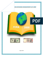 Role of Foreign Exchange Management Act 2000