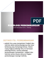 Teori-Teori Psikologi perkembangan