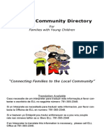 Medford Community Directory for Families with Young Children- Updated May 9, 2014