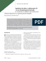 DE LA BARA Y GARCIA Hospitalización psiquiátrica de niños y adolescentes II Experiencia clínica en un hospital general privado