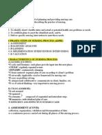 Nursing Process Lecture Notes
