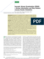 2011 - Preoperative Endoscopic Airway Examination (PEAE) Provides Superior Airway Information and May Reduce the Use of Unnecessary Awake ion - Mylena