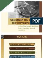 Cac Nghien Cuu Co Dien Cua Truong Phai HDH-N2
