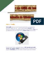 Crear Una USB de Instalacion de Window