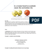 How to Write a Resume Based on Academic Employment