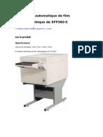 Processeur que de Film Radiographique de XFP380