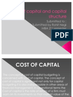 Cost of Capital & Capital Structure