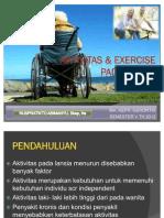 Aktivitas & Exercise Pada Lansia