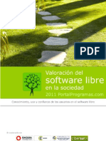 Valoracion del software libre en la sociedad