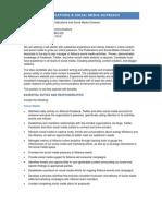 Sr Associate Publications and Social Media Outreach 1-31-12