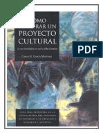 Como Elaborar Un Proyecto Cultural