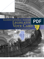 2011 Illinois General Assembly Legislative Vote Card
