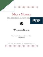 Avance de Max y Moritz. Una historieta en siete travesuras, de Wilhelm Busch