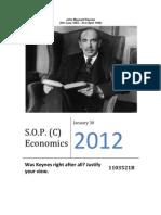 SOP (D) Economics Keynes Amogha