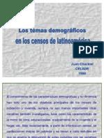 Los Temas Demograficos en Los Censos