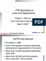 ASTM Standards on Color and Appearance