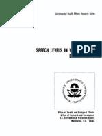 Pearsons Et Al. - 1977 - Speech Levels in Various Noise Environments