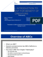 General Introduction to Assignment for Benefit of Creditors
