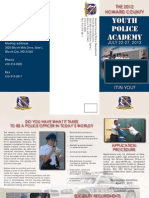 Youth Police Academy 2012 brochure and application