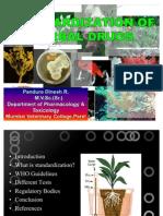 Standardization of Herbal Drugs Edited