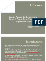 Resumen Informe Comité Asesor Reforma Universitaria