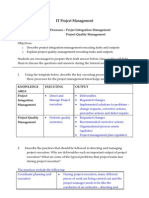 Tutorial 09 - Executing (Project Integration Management & Project Quality Management)