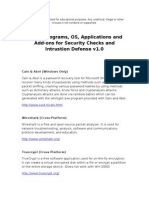 Useful Programs, OS, Applications and Add-Ons for Security Checks and Intrusion Defense v1.0