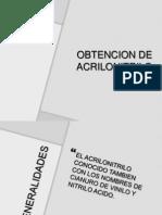 OBTENCION DE ACRILONITRILO