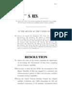 Senate Resolution on Iran