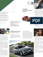 BMW Roadside Assistance Program Brochure