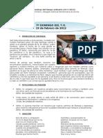 Guía Litúrgica para el VII Domingo T.O. (B)