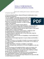 6 - Epistola Catre Romani a Sfantului Apotol Pavel